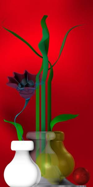 Digital Art - Still Life With Red Ball by Alberto RuiZ
