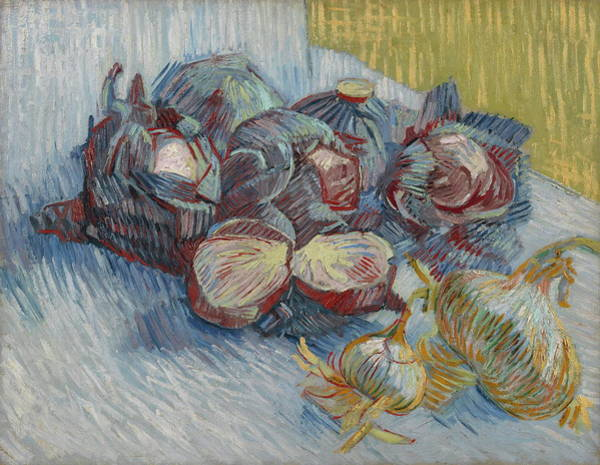 Ingredient Painting - Still Life With Red Cabbage And Onions, 1887-88 by Vincent Van Gogh