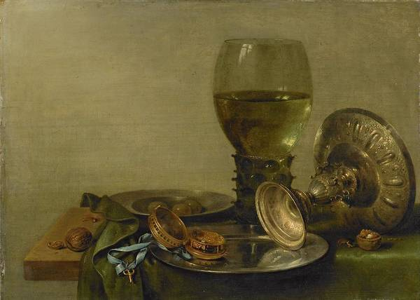 Food Groups Painting - Still Life With Roemer And Silver Tazza,  by Willem Claeszoon Heda