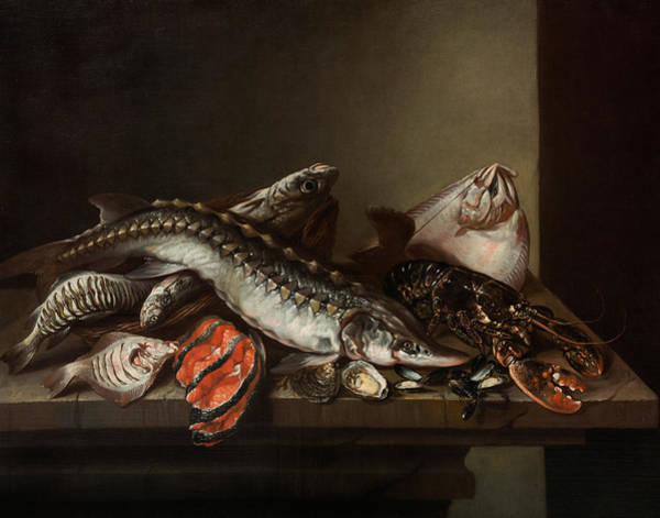 Arthropods Painting - Still Life With Seafood by Isaac van Duynen
