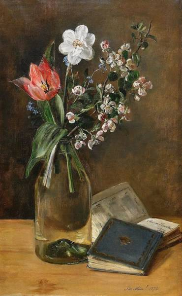 Painting - Still Life With Spring Flowers by Celestial Images