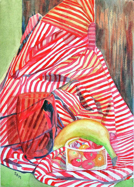 Painting - Still Life With Stripes by Sandy McIntire