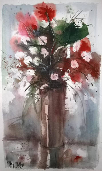 Painting - Still Life With Summer Flowers II. by Lorand Sipos