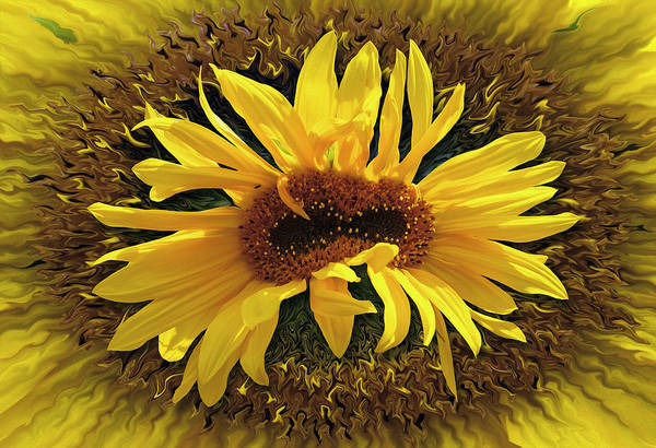 Digital Art - Still Life With Sunflower by Becky Titus