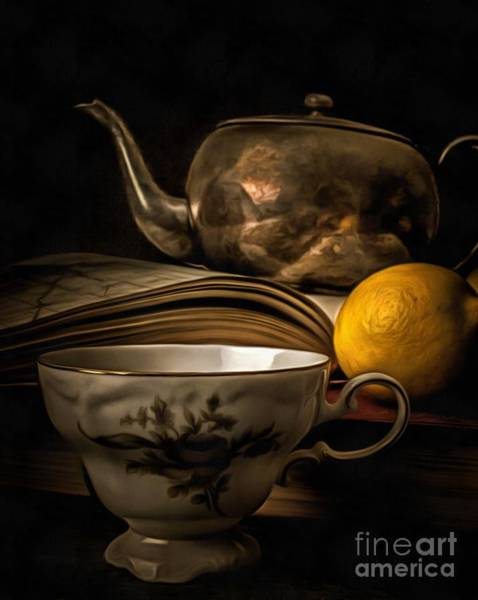 Wall Art - Photograph - Still Life With Tea Cup by Edward Fielding