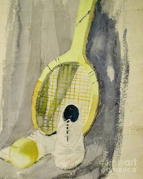 Painting - Still Life With Tennis Racquet by Asha Sudhaker Shenoy