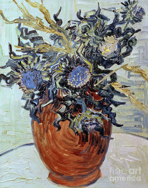 Vincent Van Gogh Painting - Still Life With Thistles by Vincent van Gogh