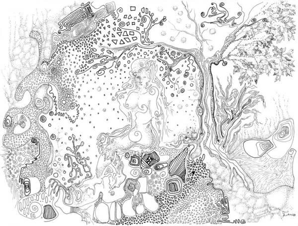 Drawing - Still Point In A Sea Change by Regina Valluzzi