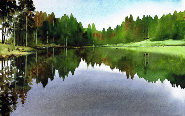 Lake District Painting - Still Water Tarn Hows by Paul Dene Marlor