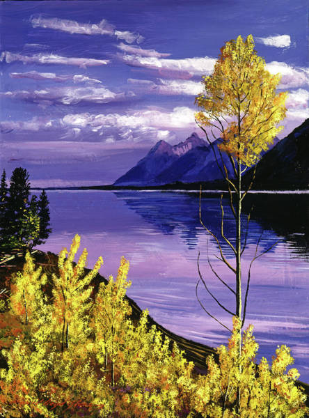 Mountain Lake Painting - Still Waters by David Lloyd Glover