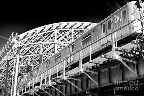 Photograph - Stillwell Avenue Train Coney Island by John Rizzuto