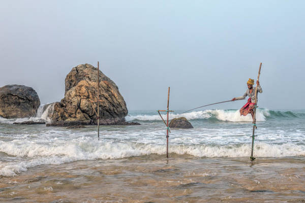 Stilt Fishermen - Sri Lanka Art Print