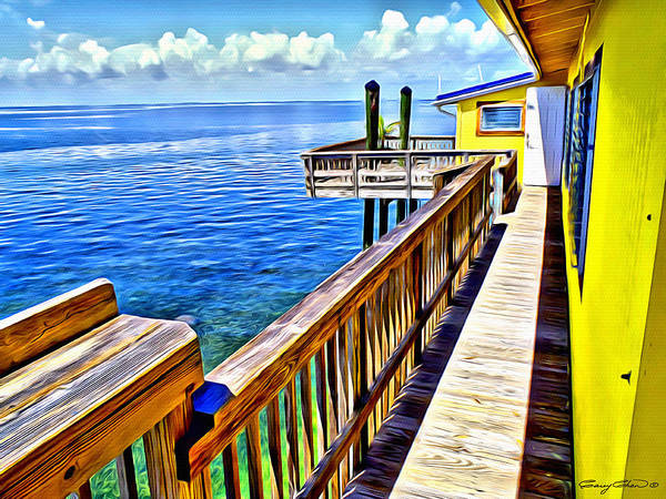 Wall Art - Digital Art - Stiltsville House by Anthony C Chen