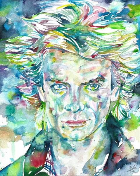 Wall Art - Painting - Sting - The Police - Watercolor Portrait by Fabrizio Cassetta