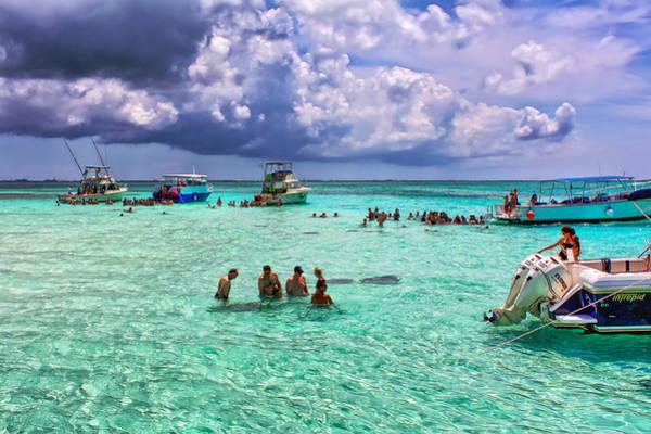 Photograph - Stingray City Grand Cayman by John M Bailey