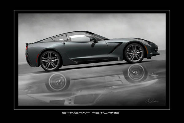 Wall Art - Digital Art - Stingray Returns 2 by Peter Chilelli