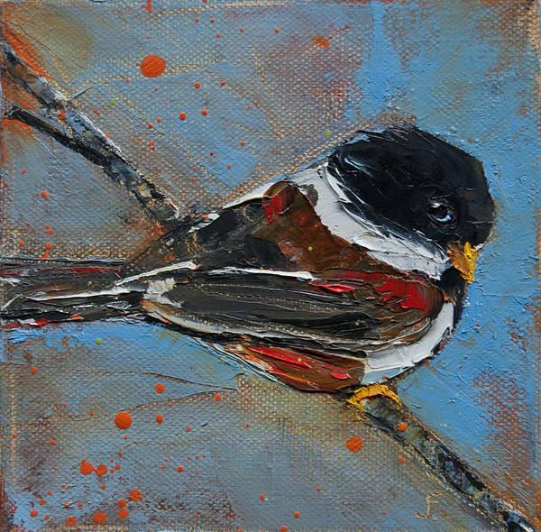 Painting - Stink Eye Chickadee by Jani Freimann