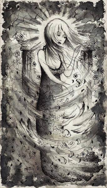 Sorcery Drawing - Stirring The Winds by Rachel Christine Nowicki