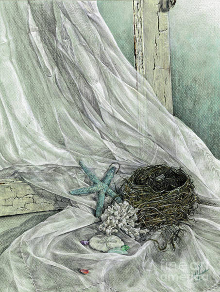 Empty Nest Wall Art - Drawing - Stirrings by Anamika Gurung