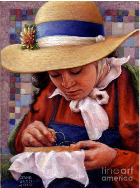 Embroidery Painting - Stitch In Time by Jane Bucci