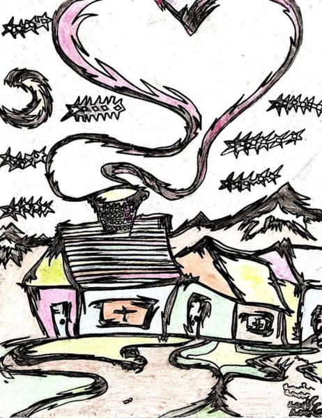 Electronica Drawing - Stitchlip's House by Levi Glassrock