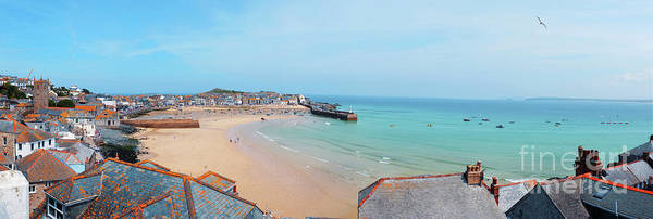 Photograph - St.ives Panorama, Cornwall by Ariadna De Raadt