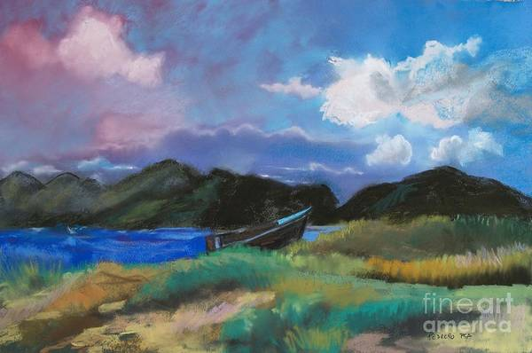 Pastel - St. Kitts Row Boat by Robin Maria Pedrero