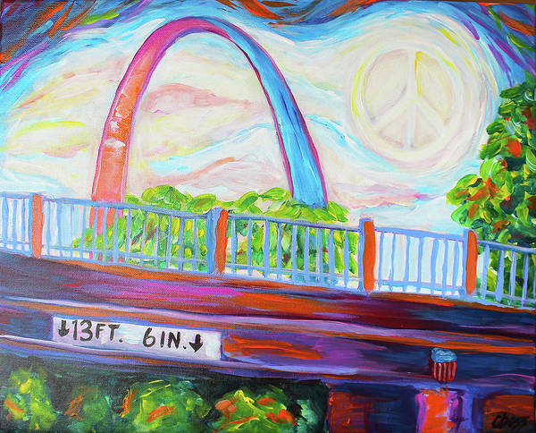 St Louis Arch Painting - Stl Love IIi by Carol Boss