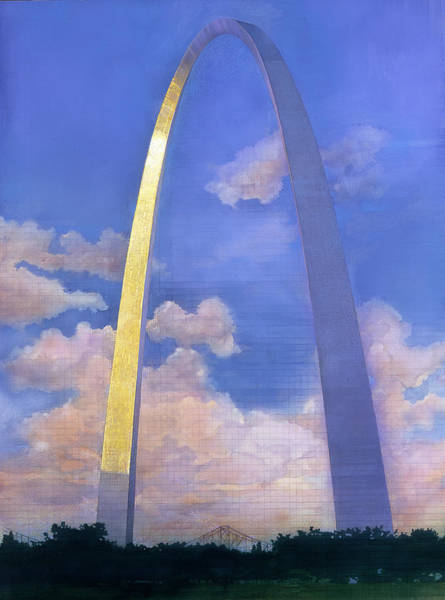 Mixed Media - St.louis Gateway Arch by John Dyess