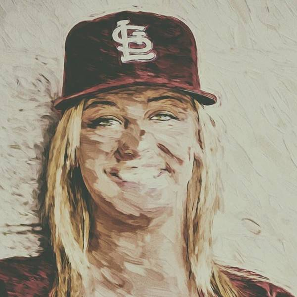 Woman Wall Art - Photograph - #stlouis #stlouiscardinals #cardinals by David Haskett II