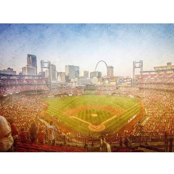 Baseball Wall Art - Photograph - #stlouiscardinals #saintlouis Cardinals by David Haskett II