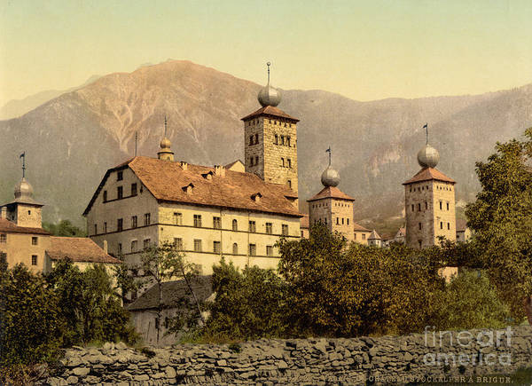 Painting - Stockalper Palace At Brigue by Celestial Images