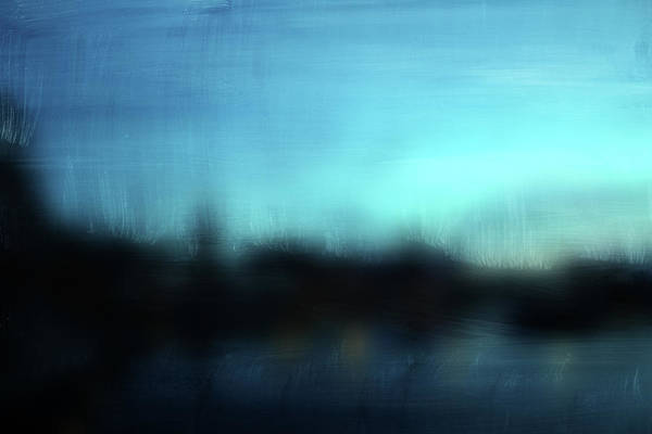 Landscapes Mixed Media - Stockholm Blue- Art By Linda Woods by Linda Woods
