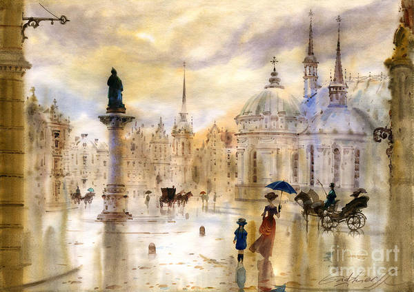Wall Art - Painting - Stockholm II by Svetlana and Sabir Gadghievs