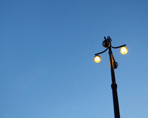 Light Photograph - Stockholm Street Lamp by Linda Woods