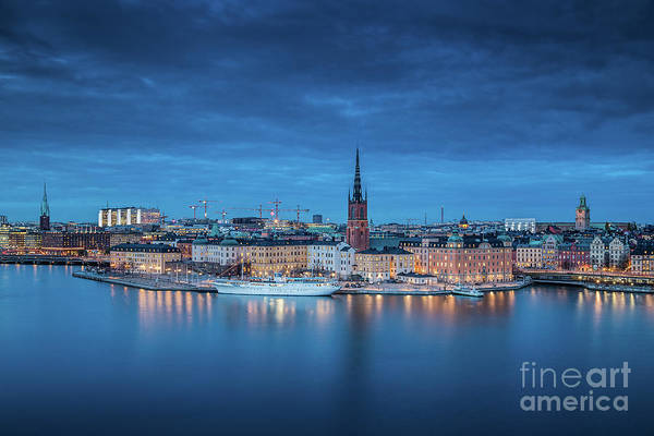 Wall Art - Photograph - Stockholm Twilight View by JR Photography