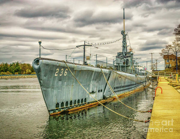 Photograph - Storm Clouds Over The Uss Silversides by Nick Zelinsky