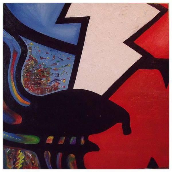 Birdman Painting - Stolen Face by Steve Weber