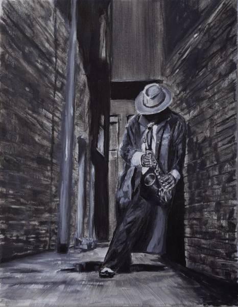 Sax Painting - Stolen Moment by Ken Wilson