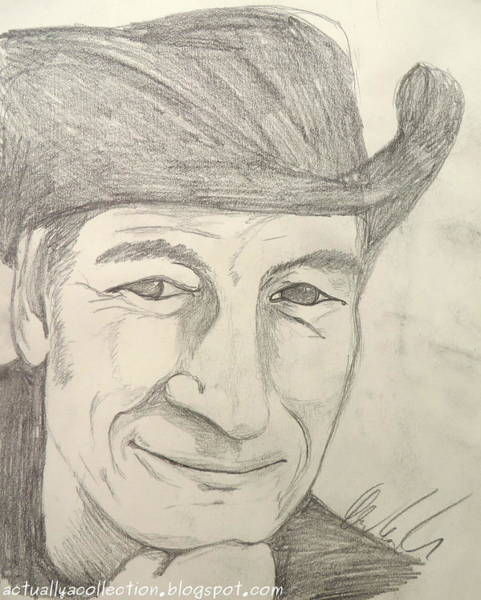 Stompin Tom Painting - Stompin Tom Connors by Andrea Cole