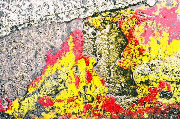 Burnt Orange Photograph - Stone Abstract by Tom Gowanlock