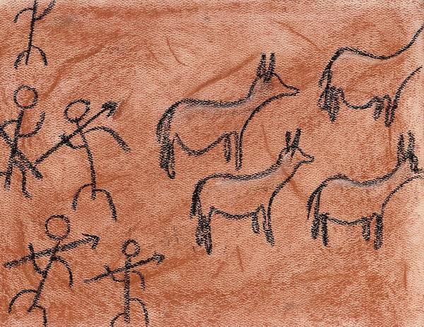 Stone Age Hunt Art Print
