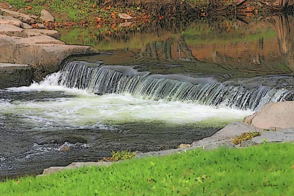 Photograph - Stone Arch Bridge Waterfall by Ericamaxine Price