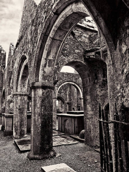 Photograph - Stone Arches Of Ross Errilly Friary Ruins by Menega Sabidussi