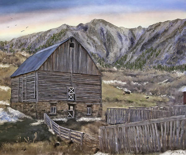 Painting - Stone Barn by Susan Kinney