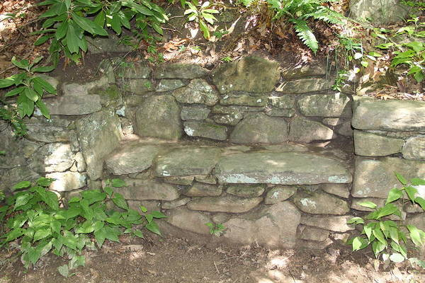 Photograph - Stone Bench by Allen Nice-Webb