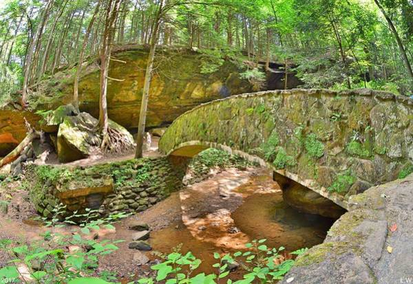Photograph - Stone Bridge At Old Man's Gorge Hocking Hills Ohio by Lisa Wooten