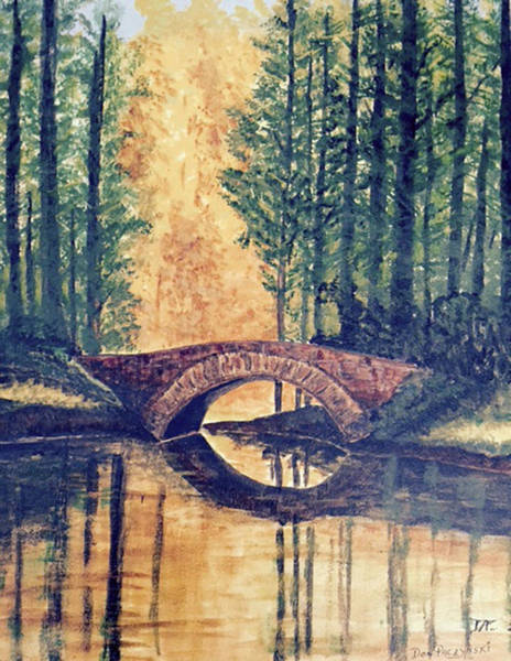 Painting - Stone Bridge by Donald Paczynski