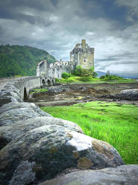 Eilean Donan Castle Digital Art - Stone Bridge To The Castle by Vicki Lea Eggen
