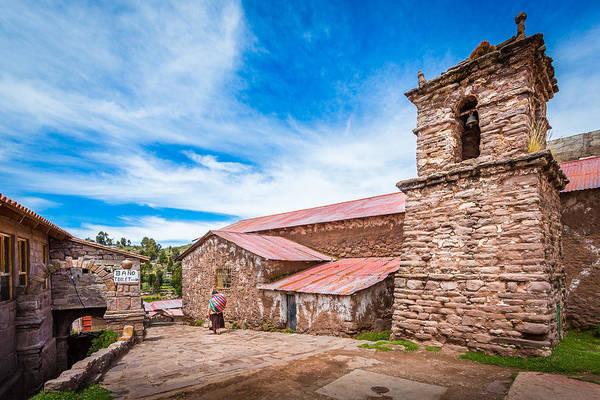 Photograph - Stone Buildings by Gary Gillette